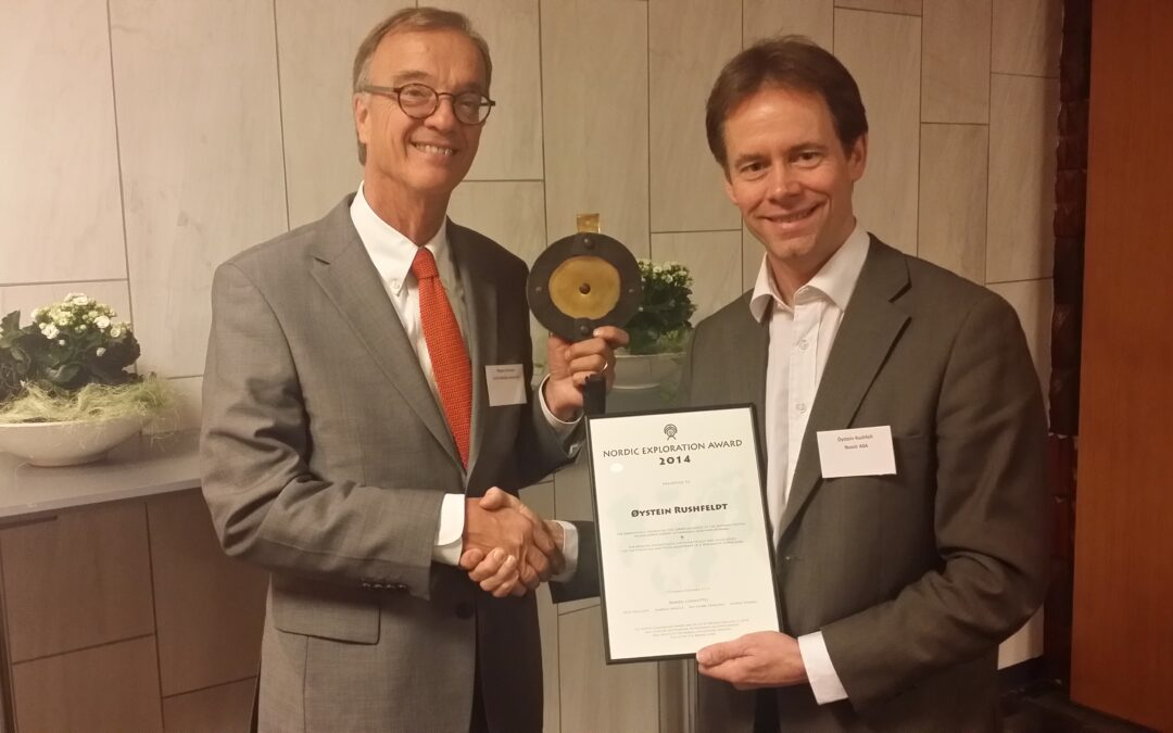 Nussir ASA has received the Nordic Exploration Award as first Norwegian project ever